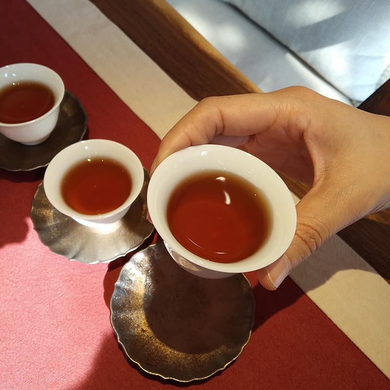 熟普洱茶鸿运当头普洱茶汤