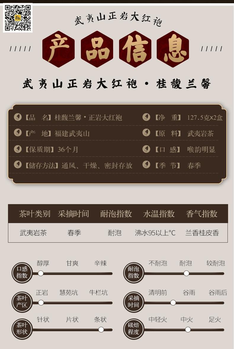 正岩大红袍桂馥兰馨产品信息图
