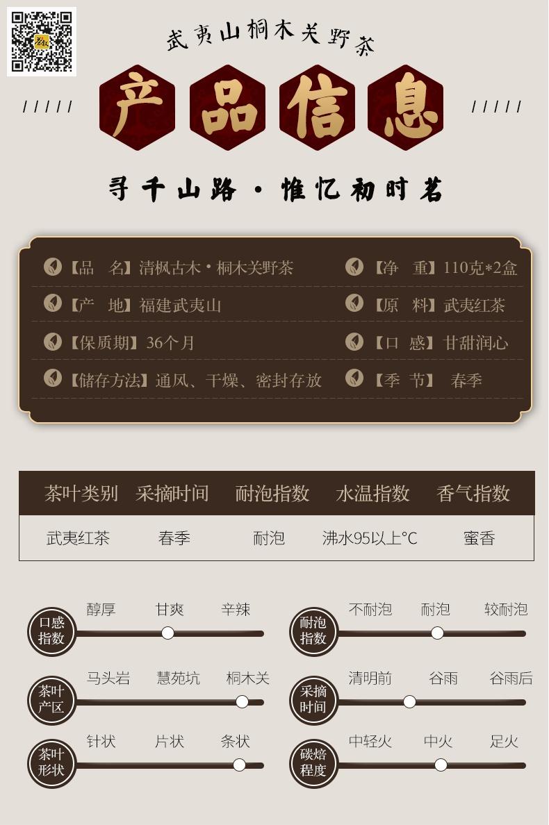 桐木关野茶清枫古木产品信息图