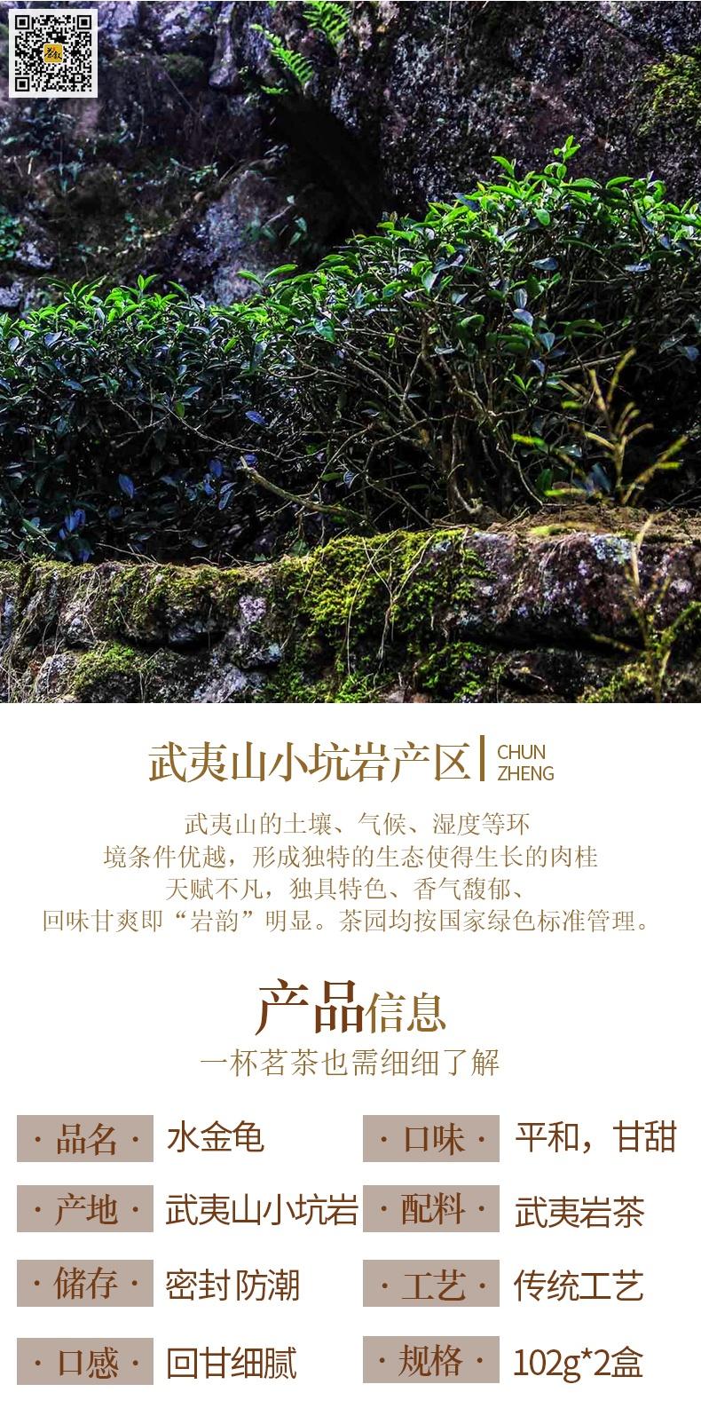 武夷名丛水金龟产品信息图