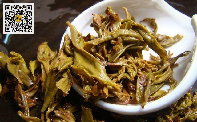武夷名丛之白鸡冠茶叶底