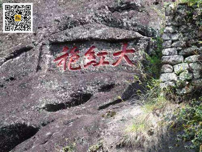 武夷山九龙窠大红袍摩崖石刻