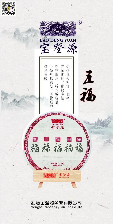 宝登源五福生普洱茶